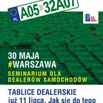 30 maja 2019 seminarium dotyczące profesjonalnej rejestracji pojazdów