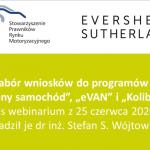 """Zapraszamy do obejrzenia webinarium - programy """"Zielony samochód"""", """"eVAN"""" i """"Koliber"""""""
