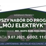 """Rusza pierwszy nabór do programu """"Mój Elektryk""""!"""