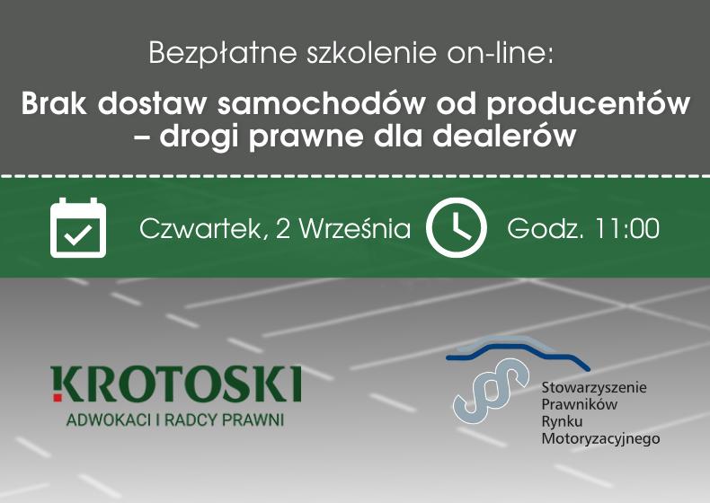 Brak dostaw samochodów od importerów – zapraszamy na bezpłatny webinar!